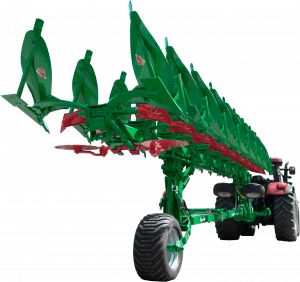 Cropped image of a 9 furrow plough type Taurus 200 T